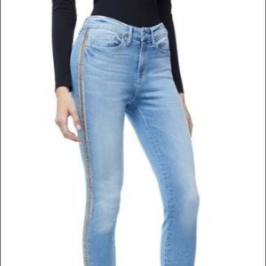 Good American Good Legs Chain Crop Skinny Jeans